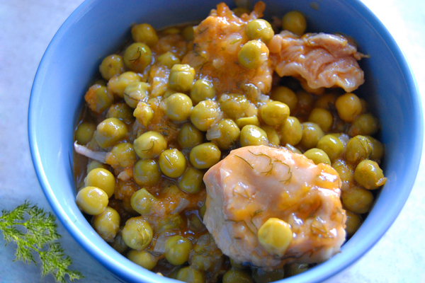 Peas with meat