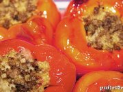 Peppers stuffed with mushrooms and vegetables