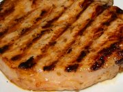 Pork chops with honey and garlic