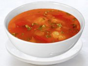 Tomato soup with dumplings
