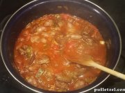 Stew with chicken livers